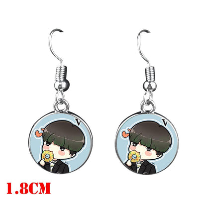 BTS  Dangle Earrings - V