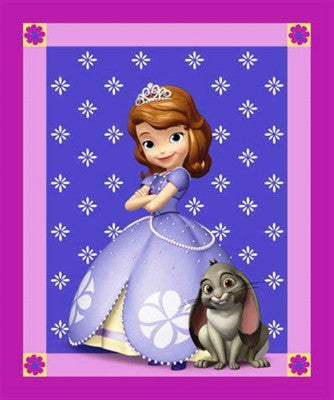 Disney Princess Sofia Panel Cotton Fabric - I'm A Craftaholic