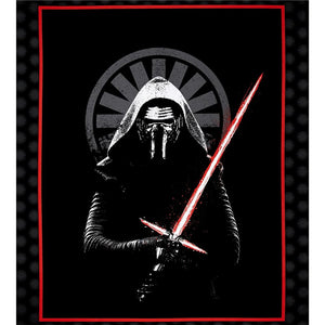 Star Wars First Order Kylo Wren Panel Cotton Fabric - I'm A Craftaholic