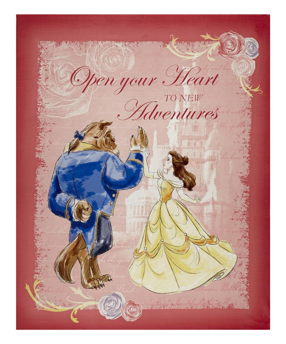 Beauty and the Beast Panel Cotton Fabric