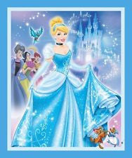 Disney Cinderella  Panel Cotton Fabric
