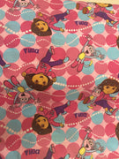 Dora The Explorer Spot Cotton Fabric - I'm A Craftaholic