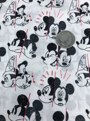 Mickey Mouse Two sides of Mickey Quilting Cotton Fabric