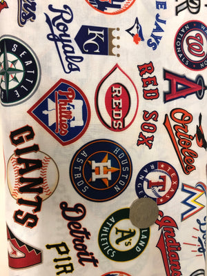American Baseball Quilting Cotton Fabric