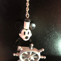 Mickey Mouse Steam Boat Willy Lego Style  Keyring