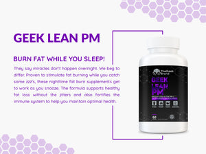 GEEK LEAN PM - NIGHT TIME FAT BURNER
