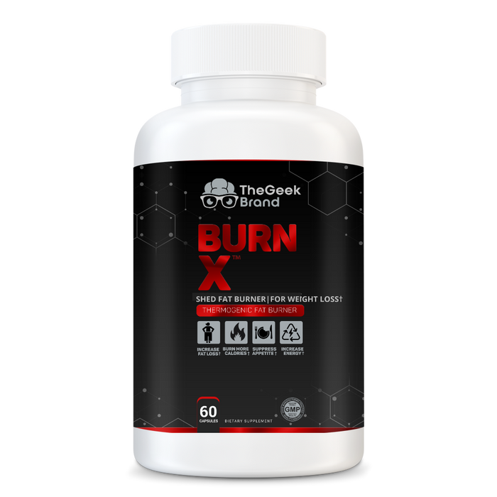 BURN X - THERMOGENIC FAT BURNER (3 Bottles)