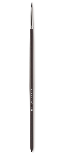 The slimmest eyeliner brush in our range. Creates the very finest eyelines, perfect for detail work and lining very close to the roots of the lashes.  Louise Young Vegan brushes are handmade in the UK, individually crafted and checked at all stages to create a durable and luxurious product.