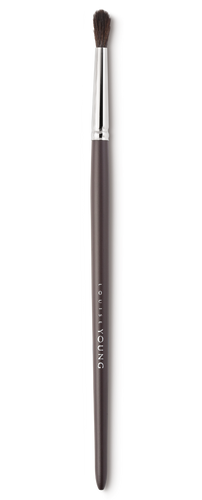 This slim, tapered brush works great on smaller eyes or to create a defined eye make-up look. Use to apply and blend eyeshadow to the socket area and lashlines. Use in the socket area to define and lift the eye.  Louise Young Vegan brushes are handmade in the UK, individually crafted and checked at all stages to create a durable and luxurious product.