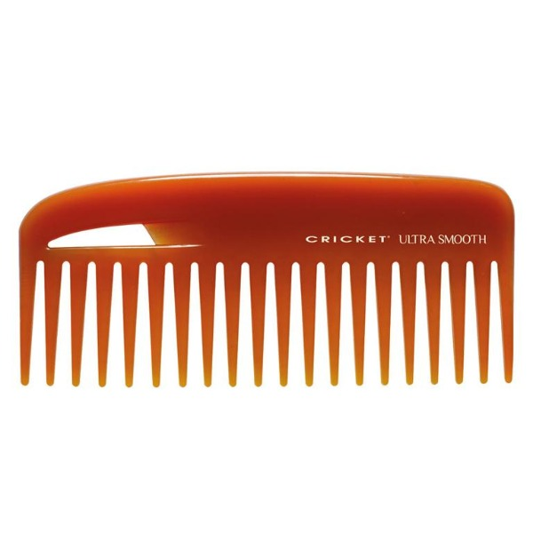 Conditioning comb.  A blend of argan, olive oils and keratin protein infused in the proprietary resin for healthier looking hair with improved manageability.  Helps control frizz, leaving behind a silky and brilliant finish.  Separates hair easily without combing out body.  Specially designed for mid-length, long or thick hair.