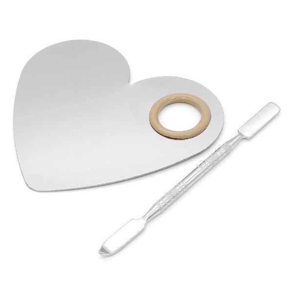 Heart Makeup Palette and Spatula