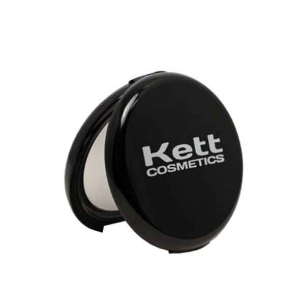 Kett's powder compact is a real favourite among make up artists.  A very fine no colour, translucent powder.