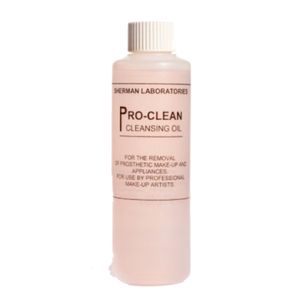 The original Proclean. A gentle oily remover, perfect for use with adhesives such as Prosaide, or latex appliances.  Using a brush or cotton bud soaked in Proclean, start to work away at the edge of the appliance until removed.