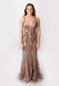 Anissa Sequin Gown