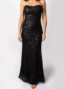 Bariano Sequin Gown