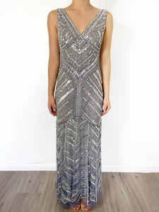 Zaleia Sequin & Beaded Gown