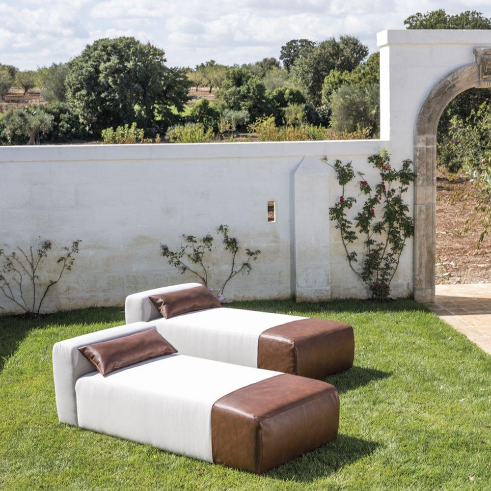 Luxury Modern Outdoor Chaise Longue/ Sunbed