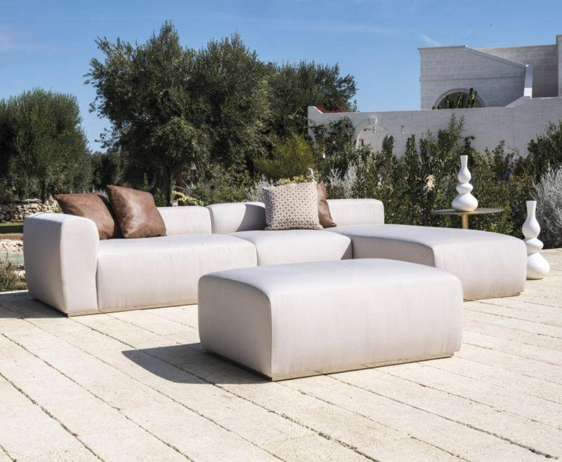 Luxury Modern Outdoor Chaise Longue | Italian modern modular sunbed | leather or outdoor fabric | black brown white beige