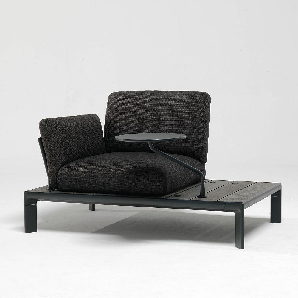 Contemporary Modular Exterior Lounge Chair | Metal Italian Design Garden Armchair
