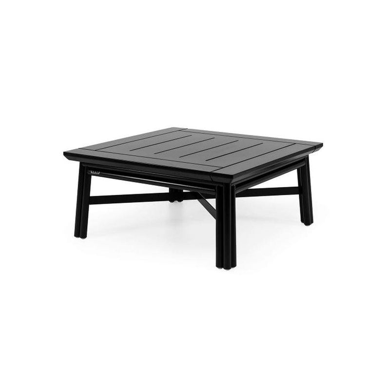 Simplistic Modern Wooden Coffee Table | outdoor high end minimalist coffee table | white black | glossy matt
