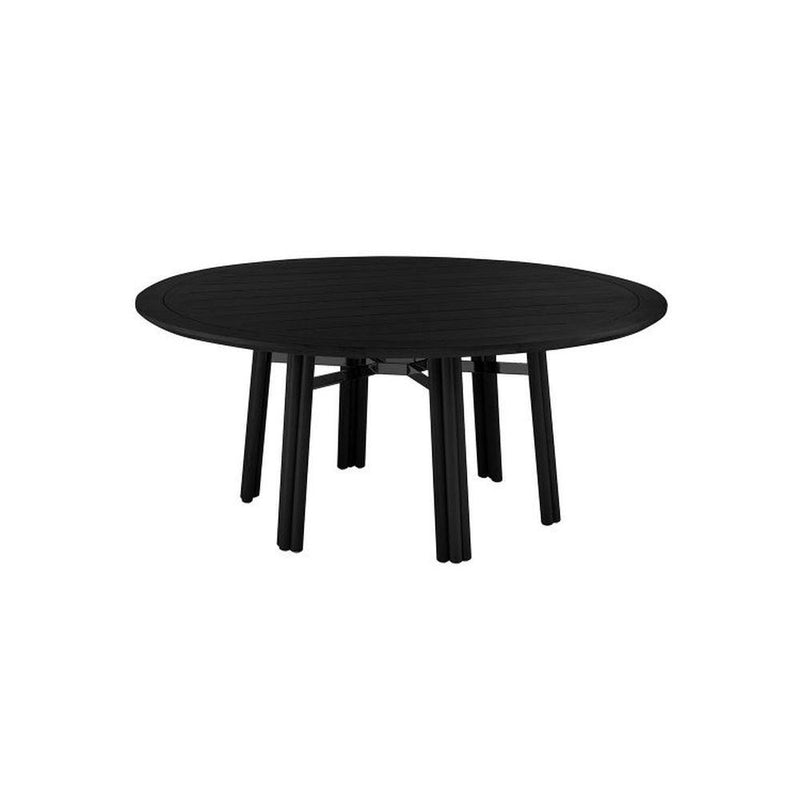 Simplistic Round Garden Dining Table | high end Italian exterior circular dining table | white black | glossy matt