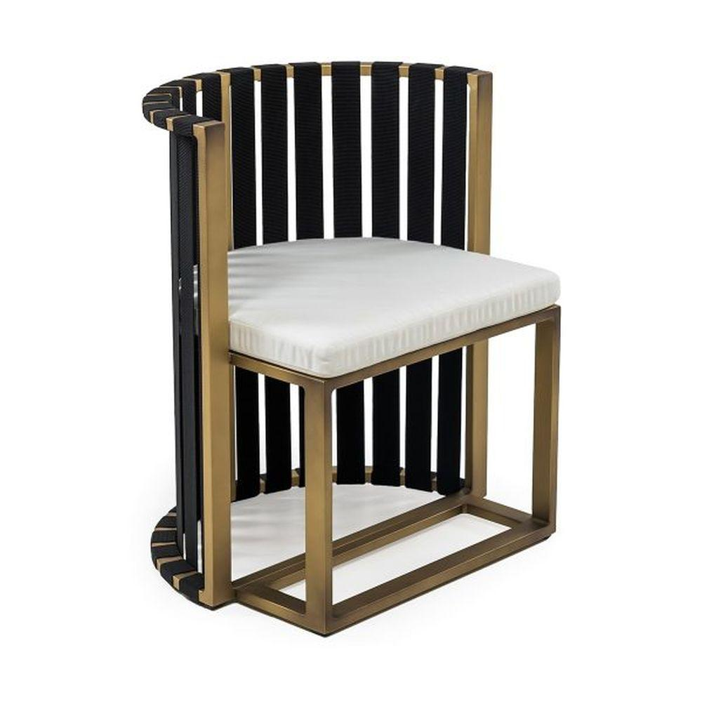 Luxurious Aluminium Outdoor Dining Armchair | high end dining armchair | gold black white taupe