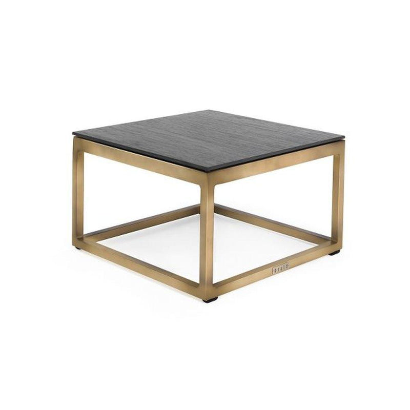 Minimal Square Outdoor Side Table | luxury Italian metalic simplistic side table | gold black white taupe