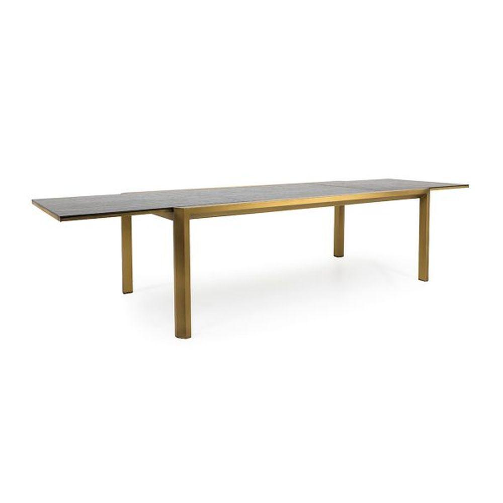 Luxury Extendable Outdoor Dining Table | high end Italian modern garden table | gold black white taupe