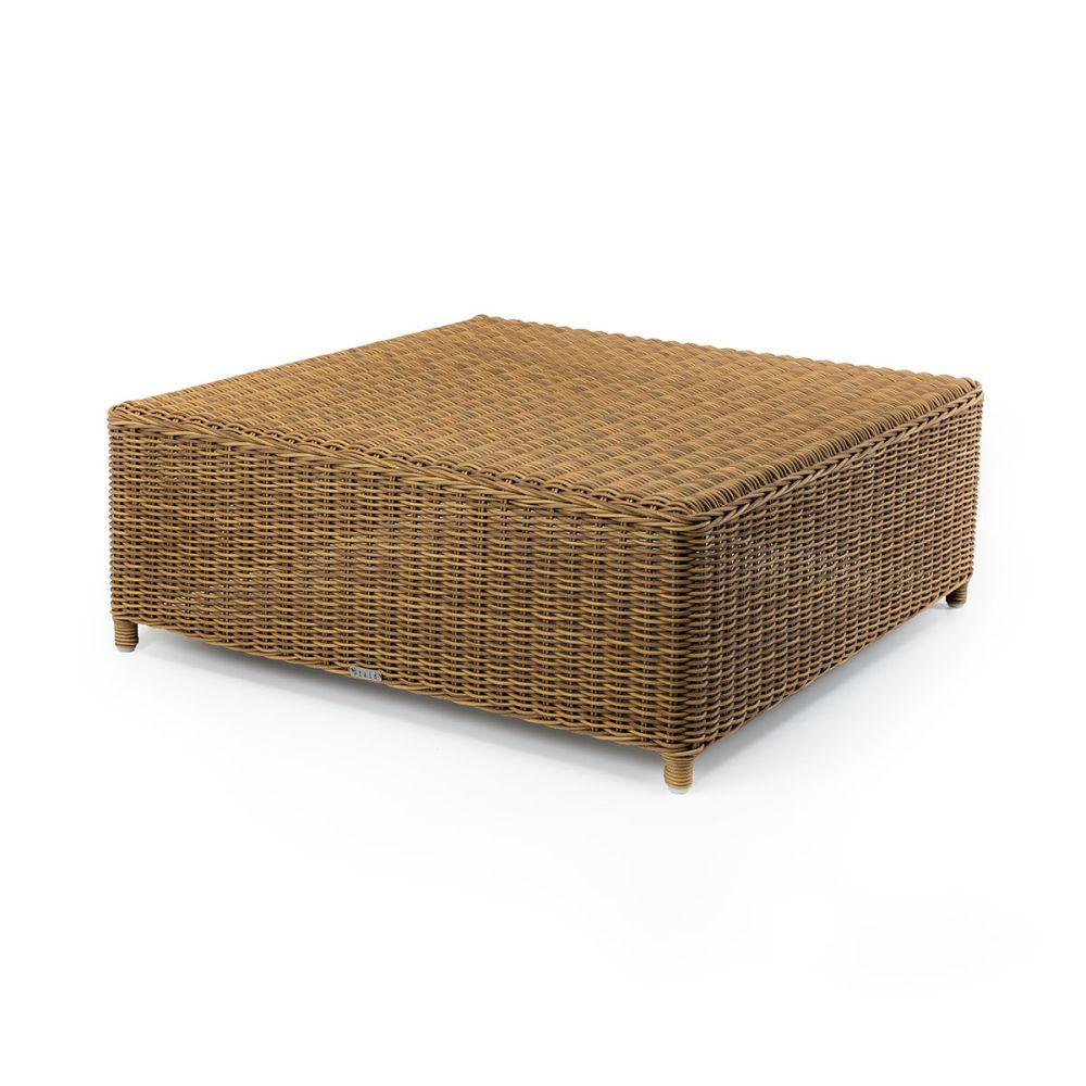 Low Rise Outdoor Rattan Coffee Table | portable garden square side table | rattan exterior furniture
