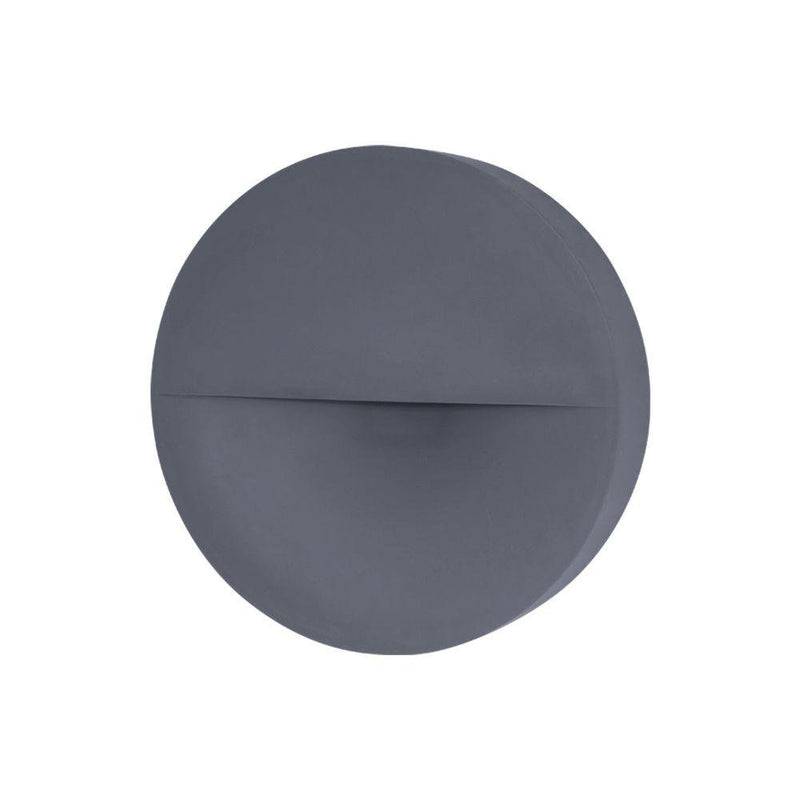 Disc Outdoor Concrete Wall Light | Circular Exterior Wall Lamp