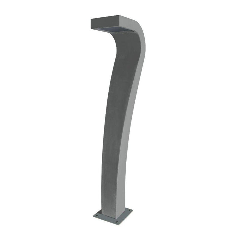 Minimal Curved Concrete Bollard | Outdoor Bollard Light | Made in Italy