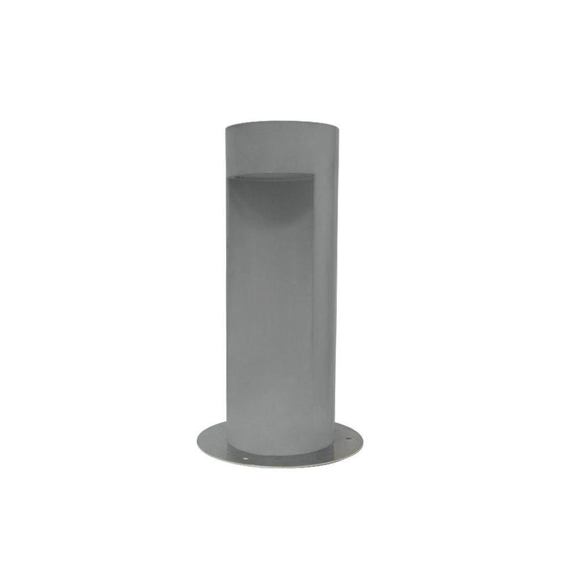 Modern Cylindrical Concrete Bollard | Exterior Concrete Floor Lamp | Made in Italy