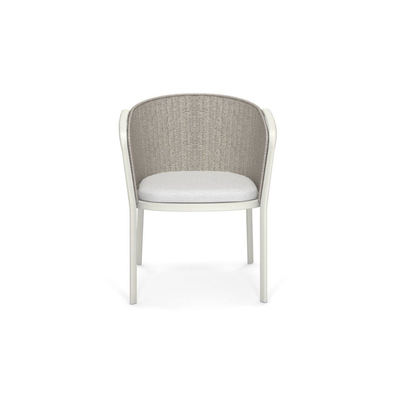 Sleek Rope Lounge Armchair | high end synthetic rope garden armchair | white brown blue | aluminium