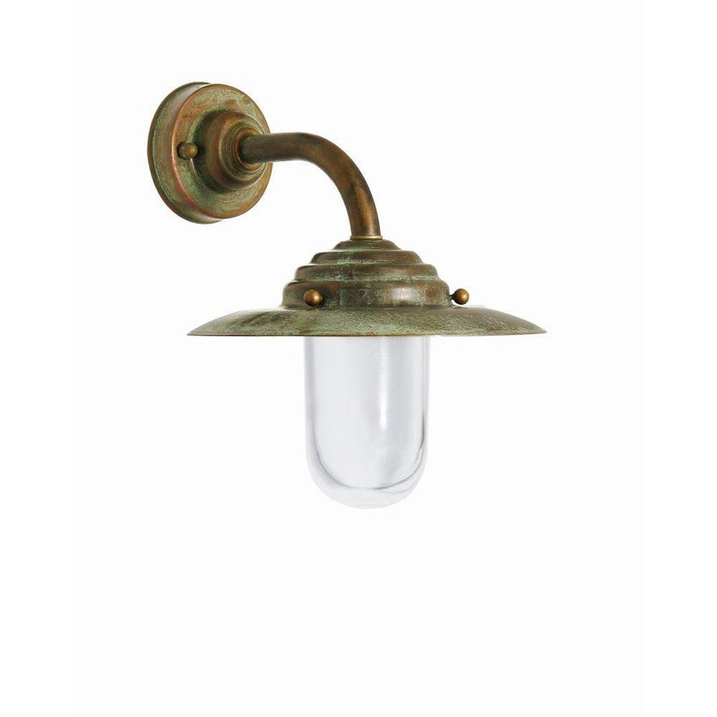 Urban Metal Shaded Garden Wall Lamp | luxury Italian brass wall lights UK | small medium large | e27 led