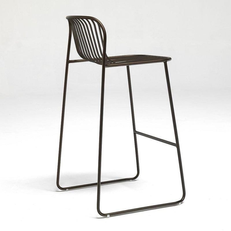 Modern Linear Exterior Bar Stool | Luxury Steel Bar Stool UK