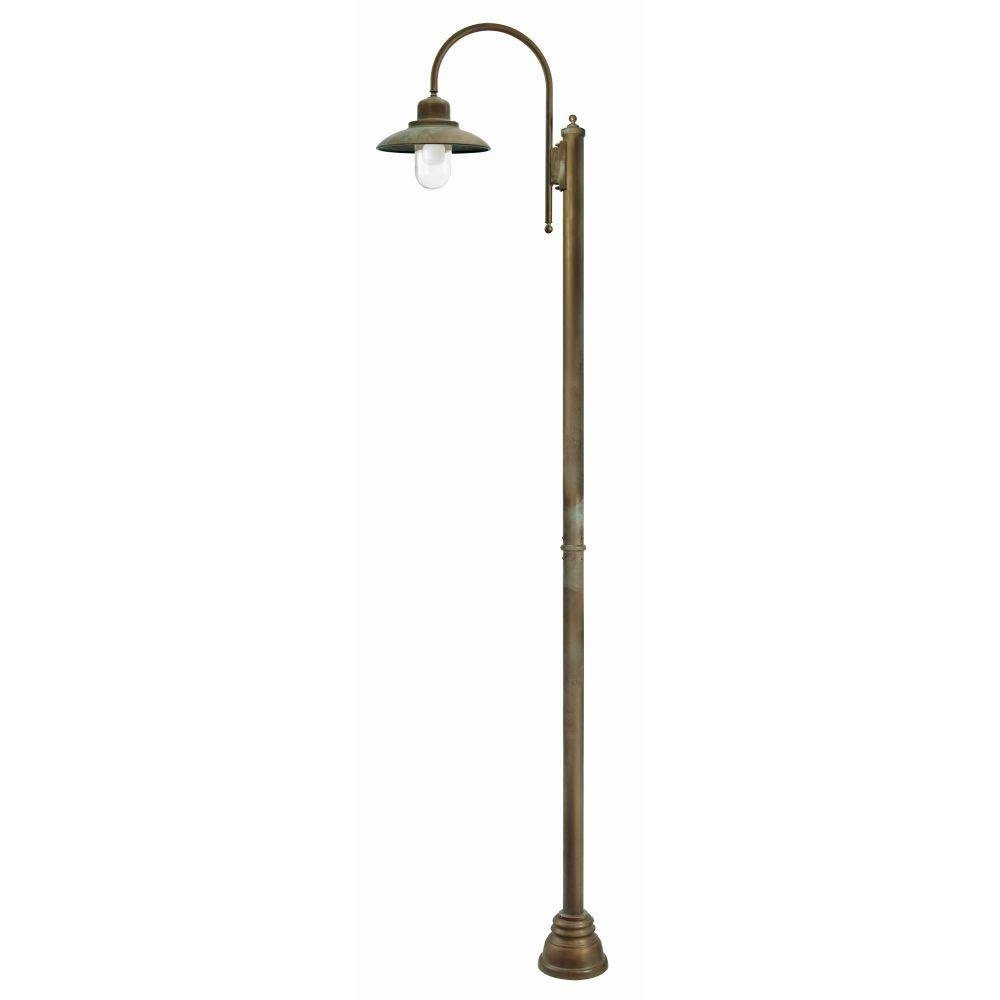 Antique Metal Exterior Tall Floor Lamp | luxury Italian brass outdoor floor light | e27 led | brass brown