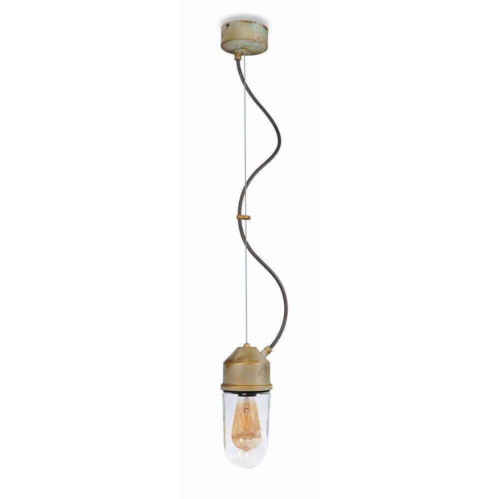 Rustic Metal Garden Ceiling Pendant | outdoor metal rustic suspended light | e27 led | brass nickel black white