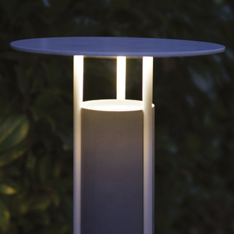 Cylindrical Modern Concrete Bollard | Round Concrete Floor Lamps