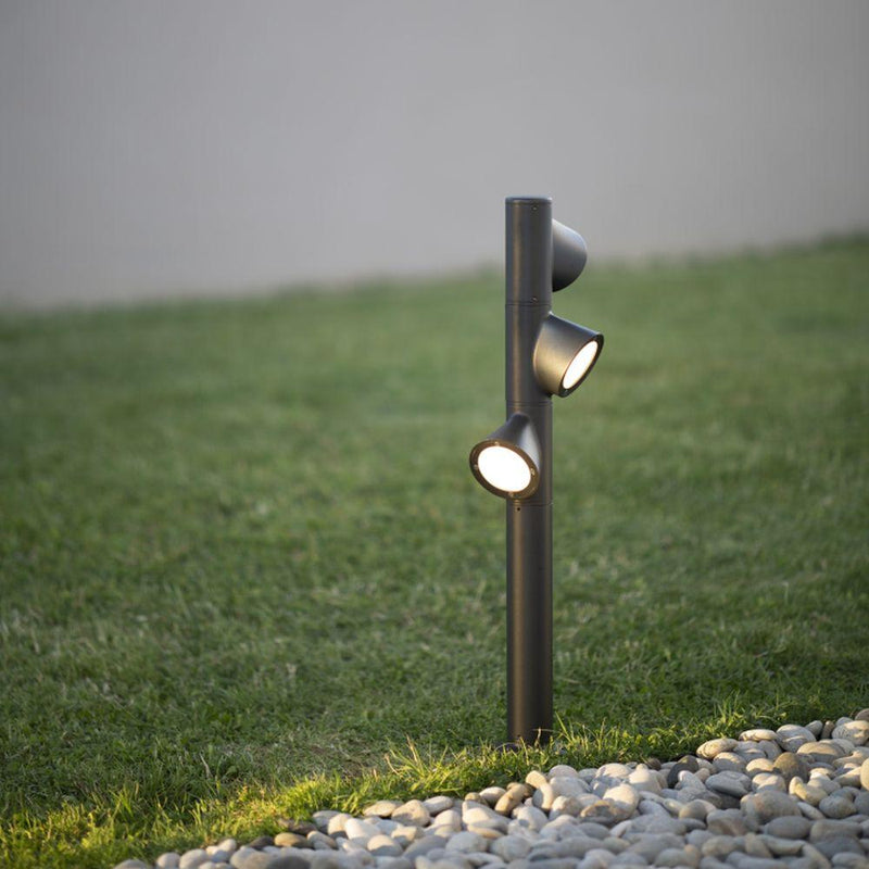 High End Sleek Modular Outdoor Lamp | Luxury Sleek Outdoor Light | Luxury Floor Light | Luxury Quality | Anthracite Corten Light
