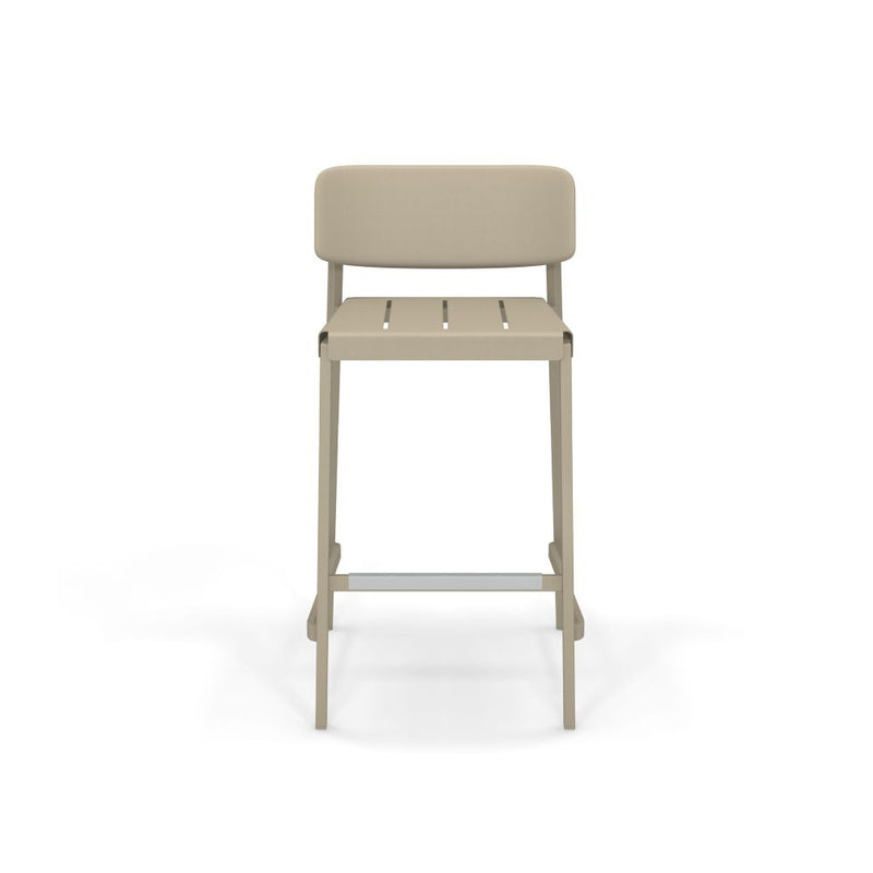 Minimal Aluminium Outdoor Barstool | luxury outdoor metal bar stools | white black taupe brown