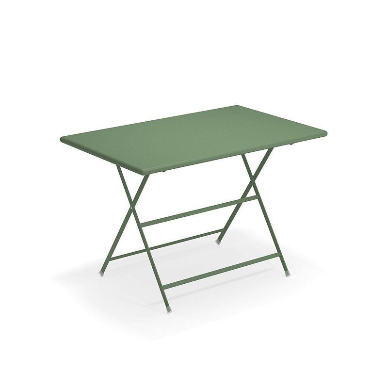 Large Modern Folding Outdoor Table | Coloured Steel Garden Table
