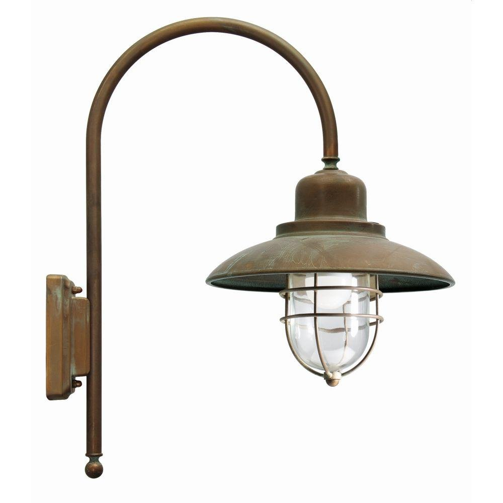 Antique Metal Exterior Garden Wall Light | luxury Italian outdoor caged rustic wall light | e27 led