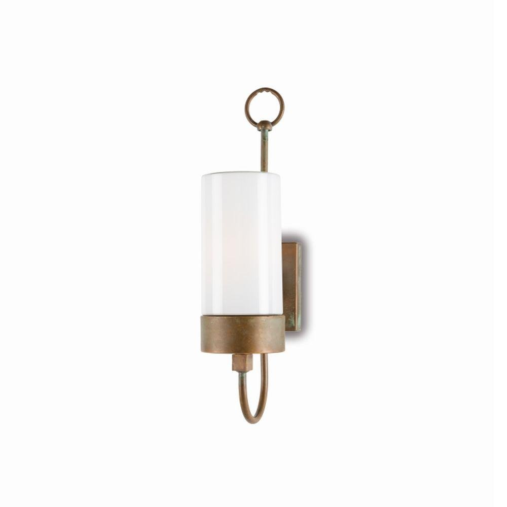 Rustic Style Exterior Glass Wall Light | modern rustic wall sconce | luxury Italian lighting UK | brass nickel black white