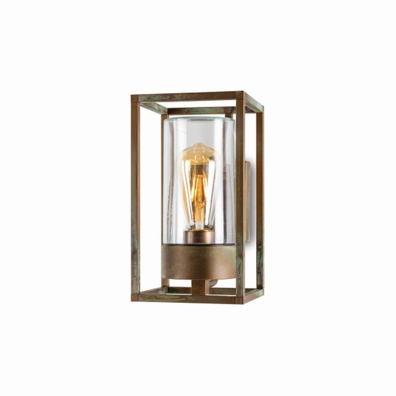 Geometric Rustic Metal Wall Light | LED brass outdoor wall sconce | high end Italian lighting UK | brass nickel black white