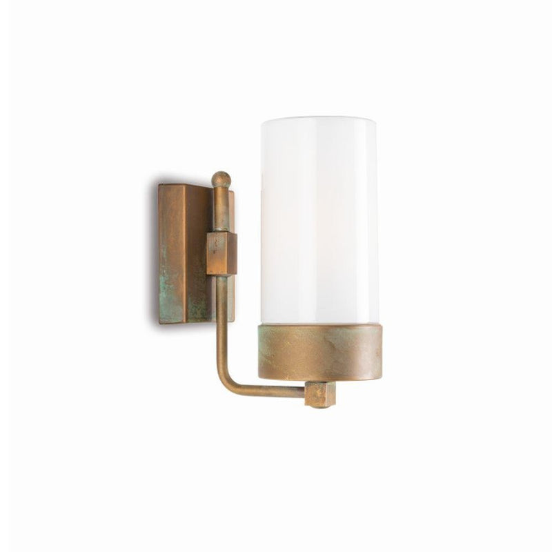 Rustic Style Exterior Glass Wall Light | Urban garden wall sconce | luxury Italian lighting UK | brass nickel black white