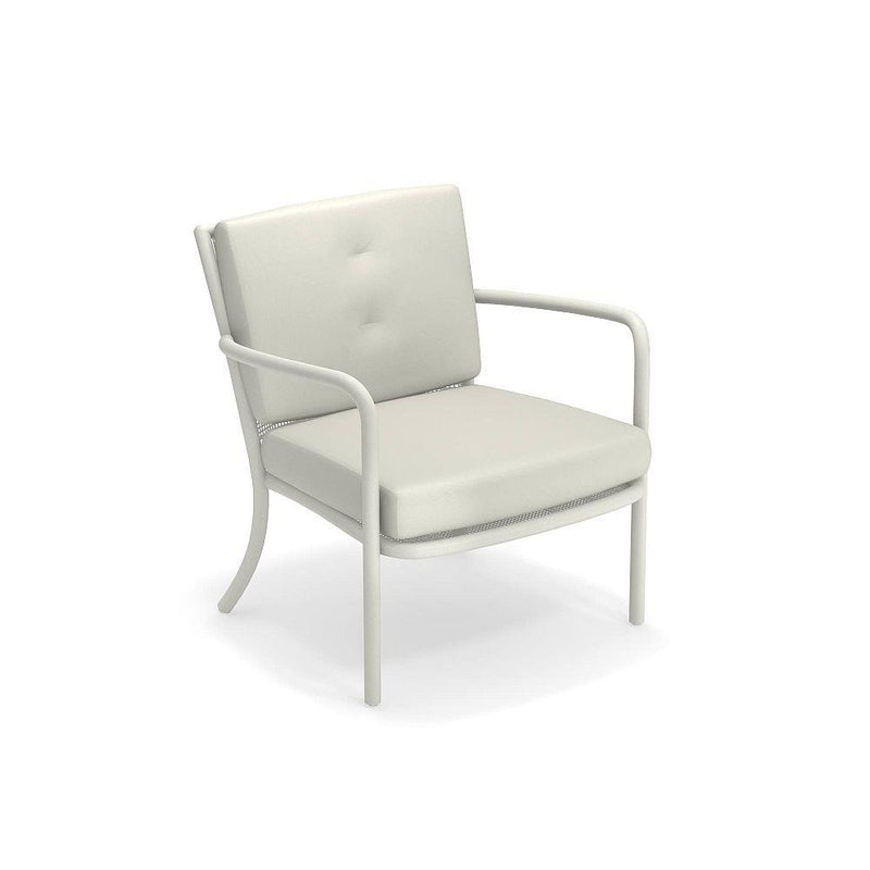 Large Neutral Garden Armchair | Luxury Italian Outdoor Lounge Chair