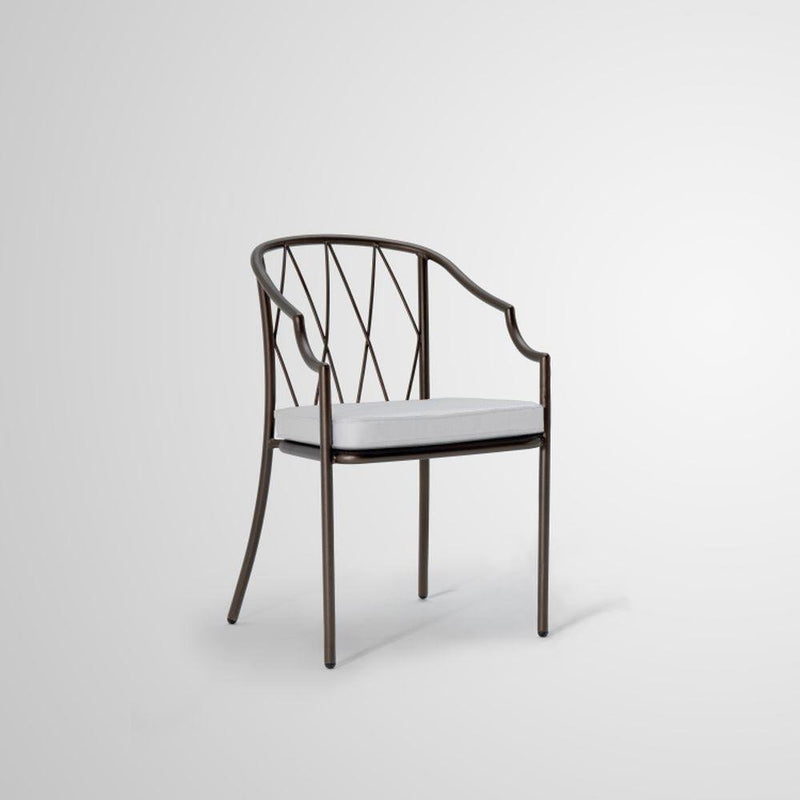 Traditional Garden Steel Armchair | luxury Italian steel garden armchair  | black white grey brown
