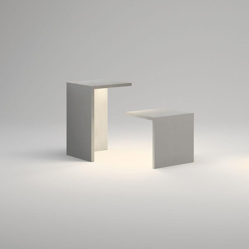 Contemporary Concrete Multi Functional Stool | Light Up Exterior Light Up Stool | Cement | LED High End