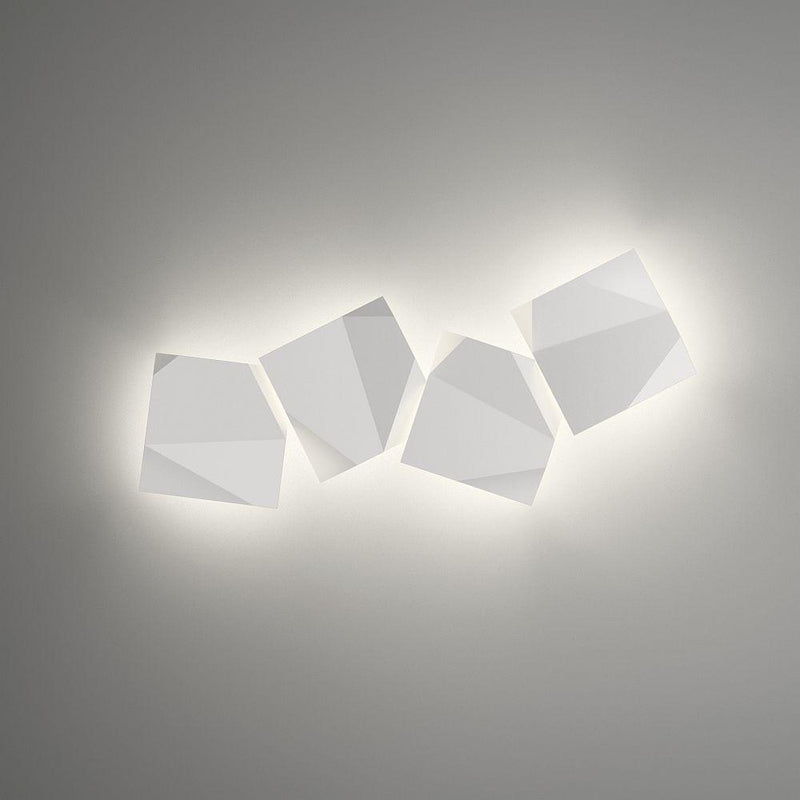 Sleek Folded Exterior Wall Light | Modern Luxury Geometric Wall Lamp Made in Spain