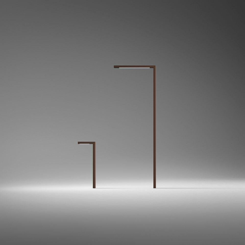 Contemporary Minimal Outdoor Floor Light | Modern Steel Garden Floor Lamp